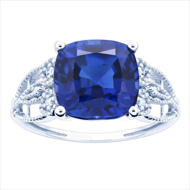 Diamond Wedding Band in 10K White Gold 1//6 cttw, Size-4 G-H,I2-I3