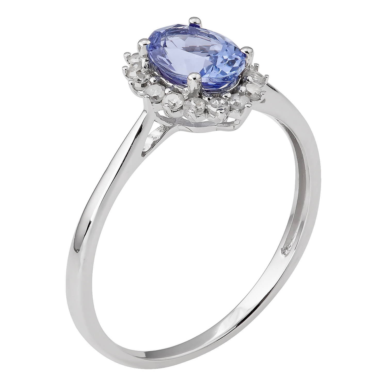 Ct Genuine Tanzanite Diamond Ring